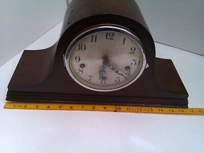 An Old Napoleon Hat Westminster Chime Mantel Clock In Full Working Order
