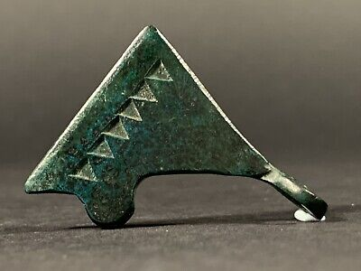 High Detailed Ancient Viking Norse Bronze Bearded Axe Pendant - Circa 700-800 Ad