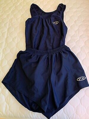 "** The Zone Boys Men Gymnastics Leotard & Shorts - 36"" - Navy **"