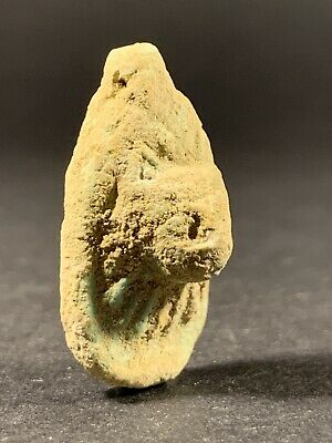 Very Rare - Ancient Egyptian Maahes God Of War Amulet Pendant - Circa 772-330Bce