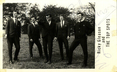 Ricky Gleason & The Top Spots - 60's Mersey Beat Band I/P Signed Photograph.