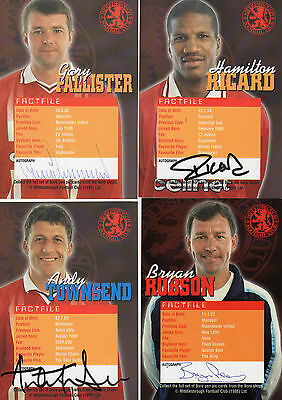 Middlesbrough Fc 4 Autographed Photos Football