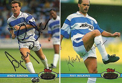 RAY WILKINS Deceased & ANDY SINTON AUTOGRAPHS QPR FOOTBALL