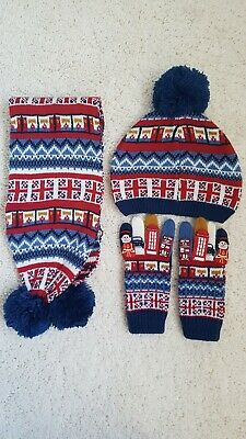 Monsoon Kids/Toddlers/Child's Hat Glove & scarf set 3-6 years.