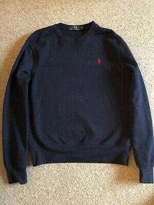 Mens Polo Ralph Lauren Designer Cotton Jumper Sweater Top Extra Small Xs