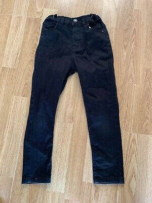 Boys Black Skinny Jeans With Adjustable Waist  From Denim Co Age 6-7 Years