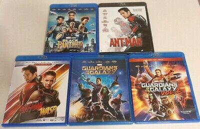 Black Panther/Ant-Man/Ant-Man And The Wasp/Guardians of The Galaxy 1+2 (Blu-ray)