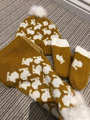 Girls Hat Gloves And Scarf Set M&S