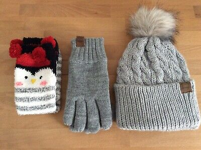 BN grey Winter Bundle, Hat, Gloves, Socks Accessory Set