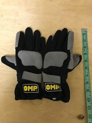 Omp Go-Karting Race Gloves Synthetic Leather Used