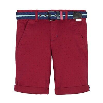 baker by ted baker boys plum spot print chino shorts age 14 NEW
