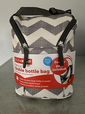 NWT Skip Hop Grab & Go Double Bottle Bag, Zig Zag NEW
