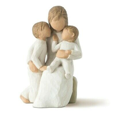 Willow Tree Quietly Figurine, Mother and Children, Unboxed.