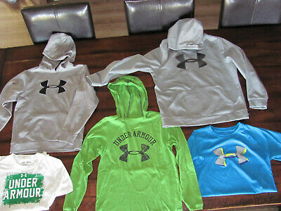 Boys Under Armour T Shirts Sweatshirts Lot Size Medium And Large Youth In Euc
