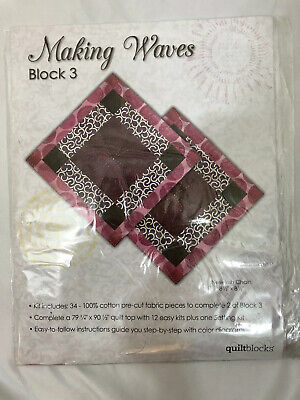 "JO-ANN QUILT BLOCK OF THE MONTH /""MAKING WAVES/"" BLOCK #10 SHOOFLY VARIATION NIP"