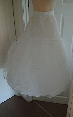 3 Hooped Wedding Underskirt With Net Layer Bridal