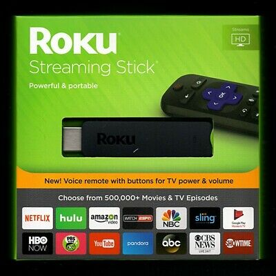 Roku Streaming Stick 3800 Portable Media Player HDMI with Voice Remote