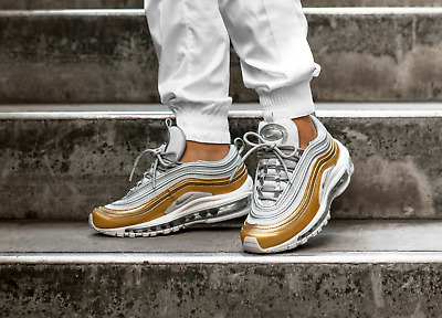 NIKE AIR MAX 97 QS Wmns Schwarz Gold 38 Neu AT5458 002 Damen