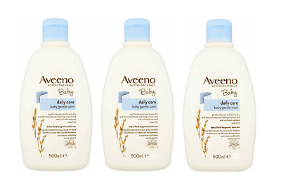 3 x Aveeno Baby Daily Care Gentle Wash Active Naturals 500 ml