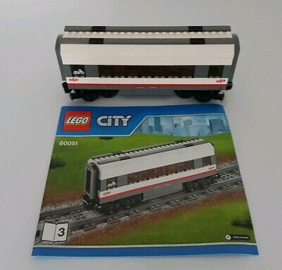 Lego City Train Custom Small Bogie with buffer from 60051 60052 60197 60198 NEW