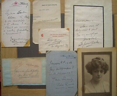 Signatures, letters, by Victorian/Edwardian stage personalities