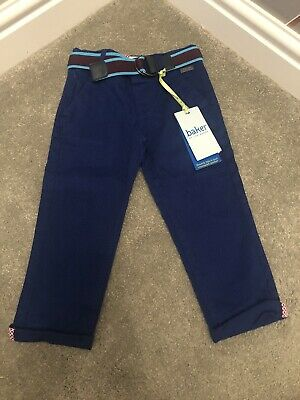 Boys Ted Baker Bright Blue Chinos With Belt 18-24months BNWT!