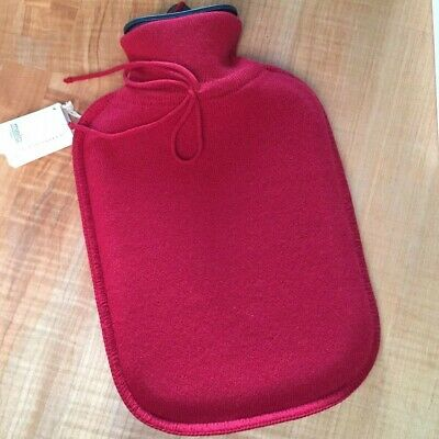 Malo Italy Luxury Red Cashmere covered hot water bottle