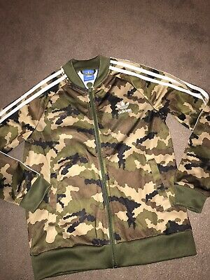 💕 Girls Adidas Camo Print Tracksuit Fashion Jacket Age 11-12 Years 💕