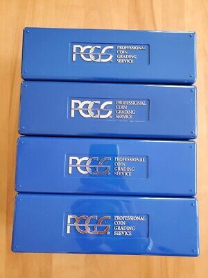 Lot of (4) Blue PCGS 20-Coin Storage Boxes - NO Tape or Labels - FAST SHIPPING