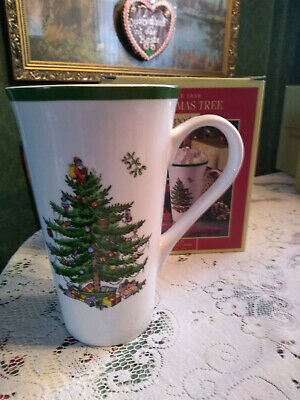 Spode Christmas Tree Large Latte Mug 0.59Ml New In Box Beautiful Xmas Breakfast