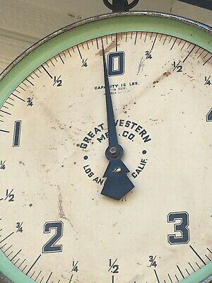 Antique Large Faced Double-Sided Country Store Hanging Scale Aafa Folk Art