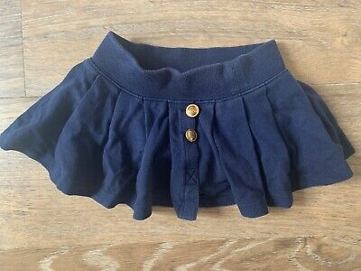Baby Girl Ralph Lauren Pleated Skirt Aged 9m 9 Months Navy Blue hardly worn