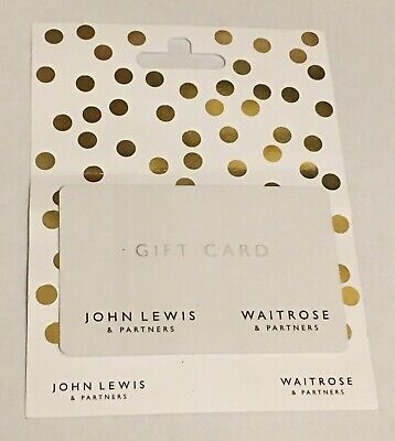 Unwanted John Lewis Waitrose & Partners Christmas Gift Card £100