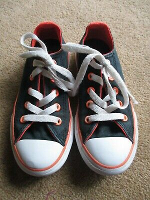 Girls Black & Pink Converse All Star Infant Uk Size 11