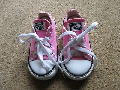 Girls Pink All Star Converse Infant Uk Size 7