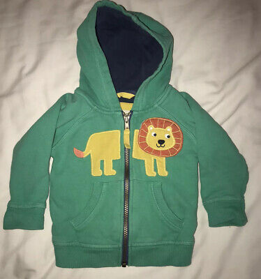 Frugi Green Lion Hooded Jumper Age 6-12 Months