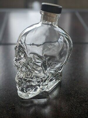 Crystal Head Vodka Bottle~Glass Skull~Original Cork~No Box~750ml~Dan Aykroyd