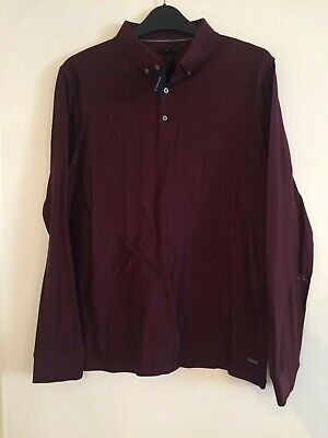 Boys Marks And Spencer Burgundy Long Sleeved Top Age 13-14 Years