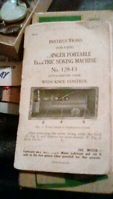 Singer Portable Electric Sewing Machine, 1925 Instruction Booklet - No.128-13