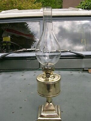 Rare Hand Made Arts & Crafts Tudor Style Kerosene Oil Lamp, Working With Chimney