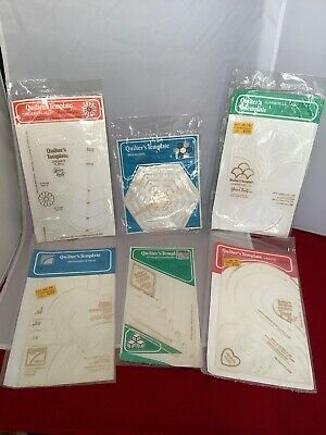 LOT OF 6 1979 RARE SEALED Quilters Patterns Templates by Yours Truly