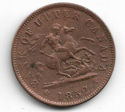 Canada Copper Coin - Km-Tn3 1852 Penny - Bank Of Upper Canada