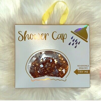 Gorgeous Glam Sequined Bling Shower Cap Bath Time Shower Time Relaxation Cap
