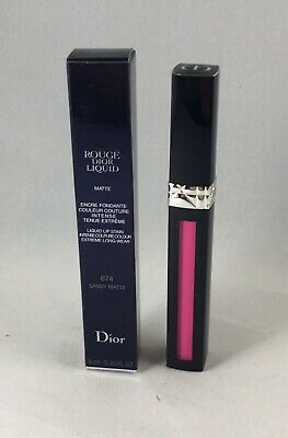 Rouge Dior Liquid MATTE Lip Stain 674 SASSY MATTE .20 Fl Oz New in Box