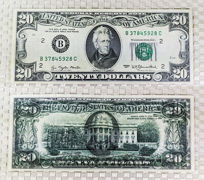 1977 $20 banknote Offset Face on back Printing Error