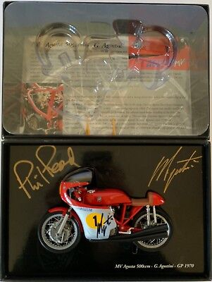 Giacomo Agostini Hand Signed 1:12 Mv Agusta 500 Gp 1970 Phil Read Minichamps.
