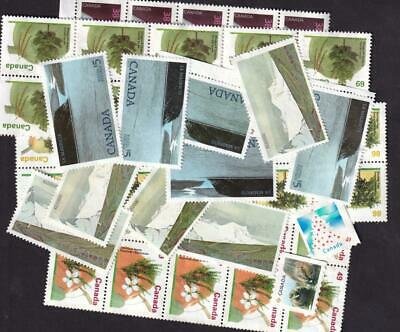 Canada FV $58 variety of uncancelled no gum stamps [L19]