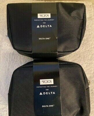 2 DELTA ONE TUMI Mini Travel Soft Bag Amenity Kits NEW