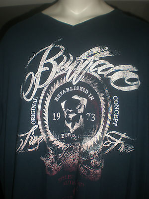 Nwt Buffalo David Bitton Navy S/S T-Shirt Sz:xlt