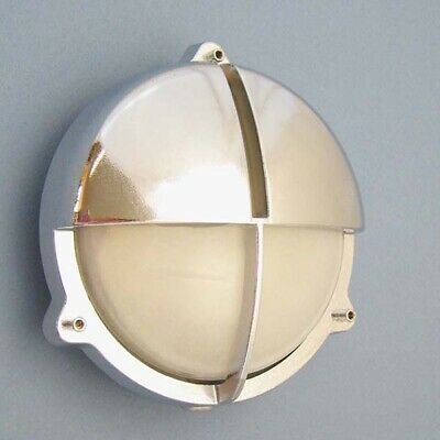 Solid Brass Nautical Bulkhead Light with Eyelid (US Ready)